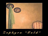 Zephyro Gold  декоративный материал с эффектом золотого песка, распылённого сильным ветром