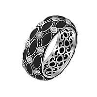 Серебряное кольцо Мадейра с эмалью и фианитами 000055037