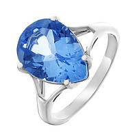 Серебряное кольцо Камелот с кварцем цвета танзанит 000055345