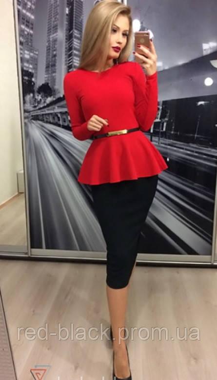 6d0cc67c422 Двухцветное платье с баской