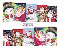 Слайдер  для ногтей 238 Новогодний дизайн
