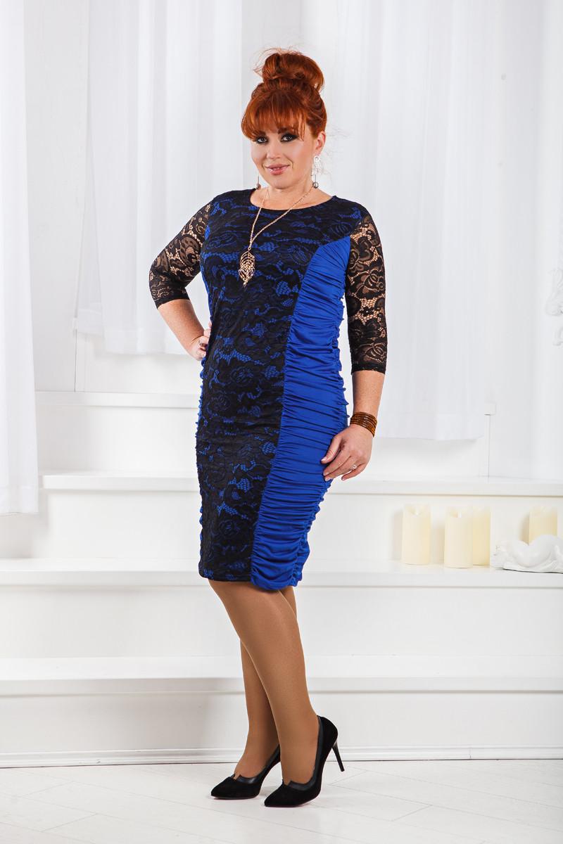 ДТ661 Платье с драппировкой размеры 50-56