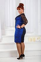 ДТ661 Платье с драппировкой размеры 50-56, фото 2
