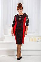 ДТ661 Платье с драппировкой размеры 50-56, фото 3
