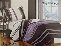 Сатиновое постельное белье семейное ELWAY 3801