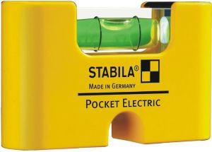 Уровень строительный карманный STABILA Pocket Electric 8см
