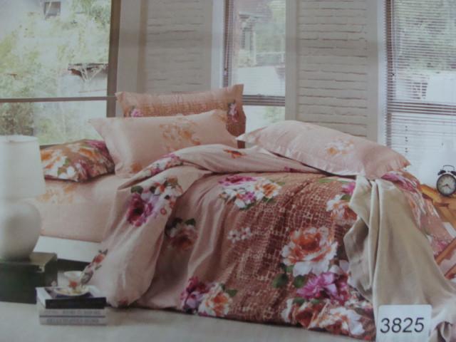 Сатиновое постельное белье семейное ELWAY 3825
