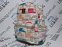 Рюкзак маленький женский с необычным принтом космос водонепроницаемый