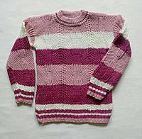 Вязаный свитер для девочки 1 2 3 года Турция