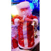 Новогодняя игрушка Дед Мороз музыкальный, 37 см