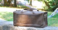 Большая кожаная дорожная сумка ручной работы