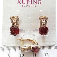 Серьги  Xuping позолоченные длина 1.6см с659
