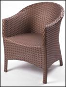 Кресло для ресторана, кафе, летней площадки из искусственного ротанга КСР-16