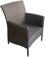 Кресло плетеное из искусственного ротанга