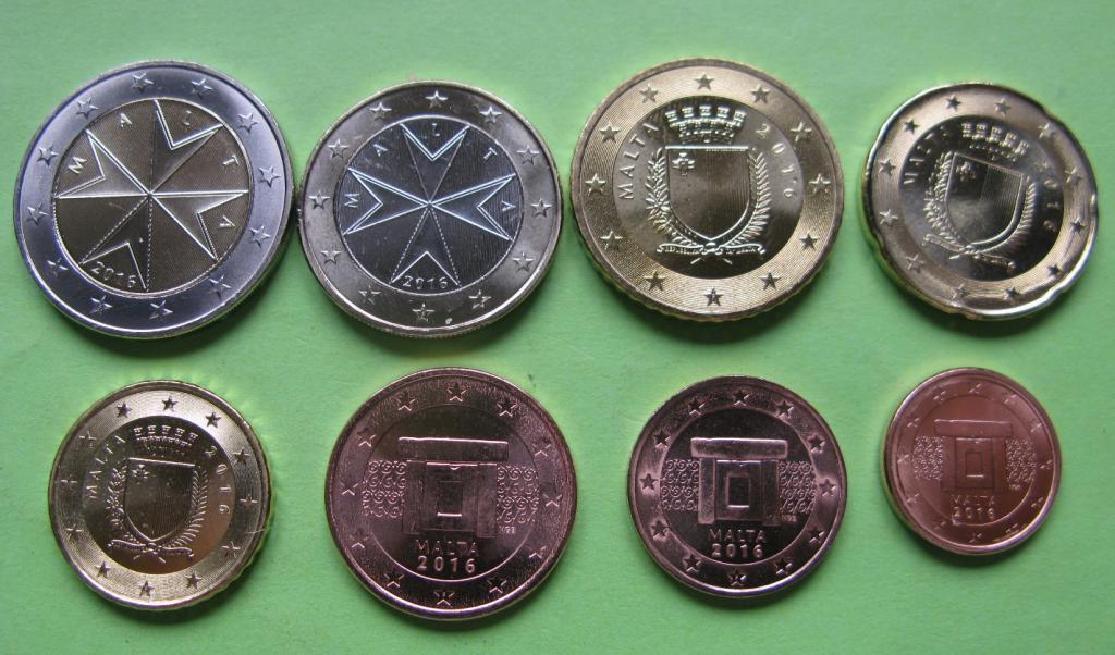 Мальта набор евро монет 2016 г. 8 монет UNC