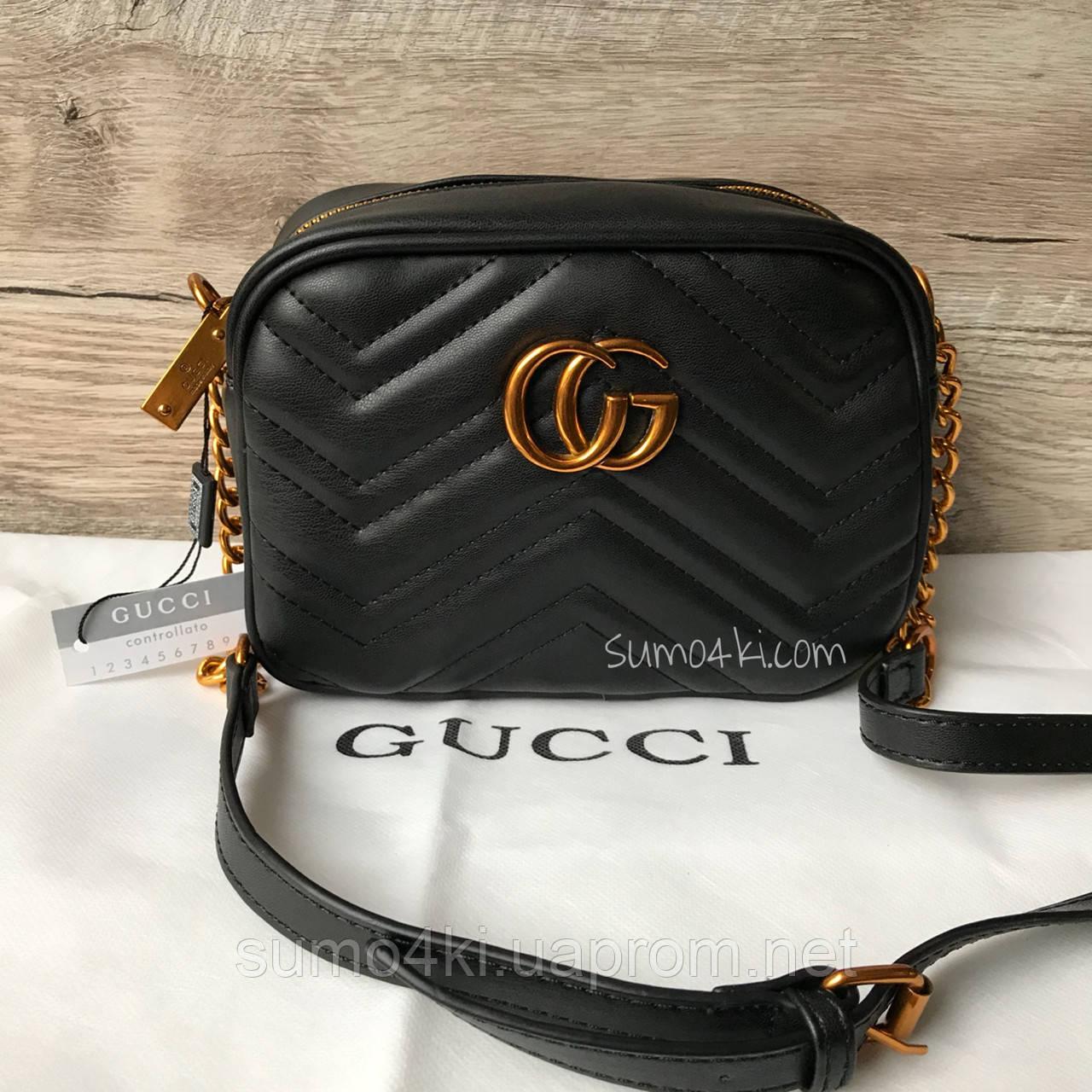 3d115667d83c Женская маленькая сумка Gucci Гуччи Marmont - Интернет-магазин «Галерея  Сумок» в Одессе