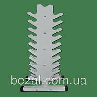 Стойка для гантелей металлическая вертикальная Елочка на 21 ед, фото 1