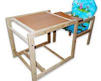 """Деревянный стульчик (столик) для кормления """"Зайченок"""""""