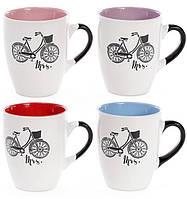 """Кружка керамическая """"Велосипед"""" - подарок для тех, кто ведёт здоровый образ жизни 370мл"""