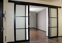 Прозрачные раздвижные межкомнатные двери