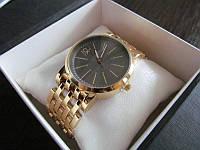 Часы женские gold с темным циферблатом
