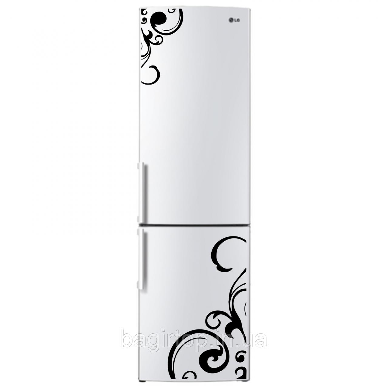 Виниловая наклейка на холодильник - Набор узор 2