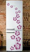 Виниловая наклейка на холодильник - Набор цветы 3 2