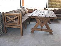 Стол Эмине 1,6м, деревянная мебель для дачи Эмине