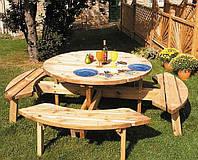 Набор садовой мебели обеденный Камелот №4 (ф1,8-2м)