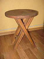 Стул раскладной деревянный круглый