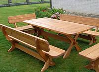 Мебель садовая из натурального дерева  Гармония КОМПЛЕКТ 2м