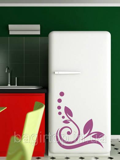 Вінілова наклейка на холодильник -Візерунок 22