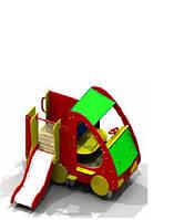 Горка для детской площадки Машинка с горкой БК-725Г