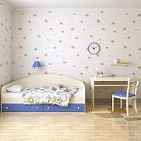 """Диван-кроватка детская/подростковая для мальчика + ящиками """"Жак"""" 80х190 (ванильно-голубая)"""