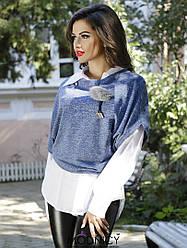 Стильный комплект: блуза и безрукавка