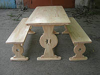 Мебель садовая из натурального дерева Аленка КОМПЛЕКТ 1,8м, фото 1