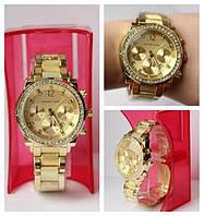 Часы МК наручные женские золото с камнями