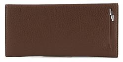 Мужскойстильный практичный классический портмоне бумажник под купюруPUкожиFUERDANNI art. Q-228-1 коричнев