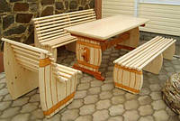 Мебель садовая из натурального дерева Пивная КОМПЛЕКТ