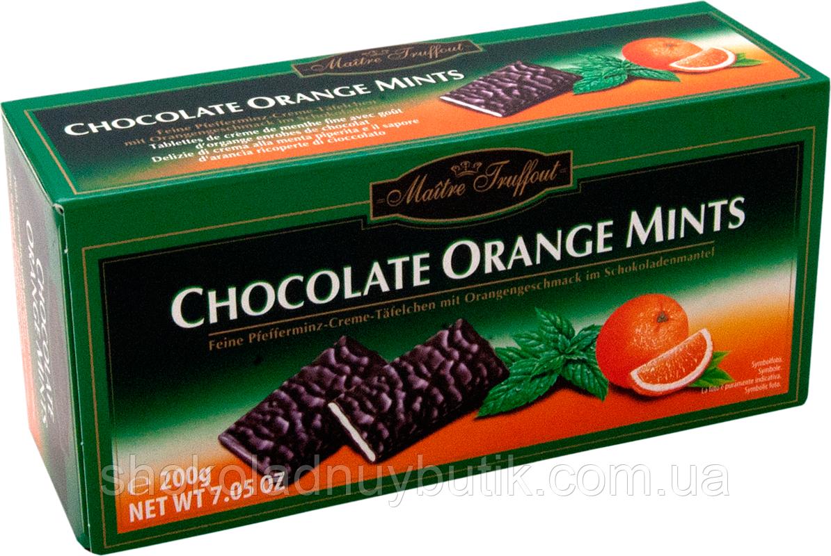 Шоколадные пластинки с мятно-апельсиновым вкусом Maitre Truffout.