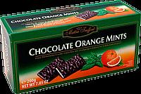 Шоколадные пластинки с мятно-апельсиновым вкусом Maitre Truffout, 200г.