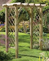 Арка Шанхай-1 садовая для вьющих растений деревянная