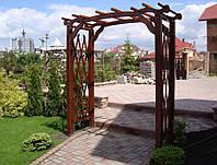 Арка садовая для вьющих растений деревянная Шанхай-5