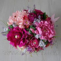 """Оригинальный букет для мамы """"Вкусные пионы"""", фото 2"""
