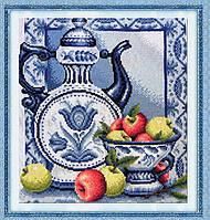 Вышивка крестиком Натюрморт с яблоками