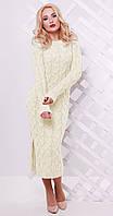 Платье длинное с разрезом белое(вст)2424