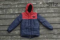 Мужская теплая куртка/парка на зиму адидас (Adidas), красная