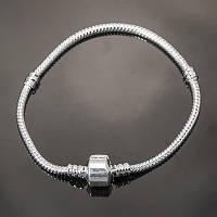 Основа для браслета пандора, латунь, серебро УТ100005411