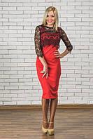 Красное платье с болеро