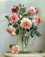 Картины по номерам Трепетные розы